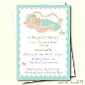 diy mermaid baby shower invitation aqua blue by martinelatoons
