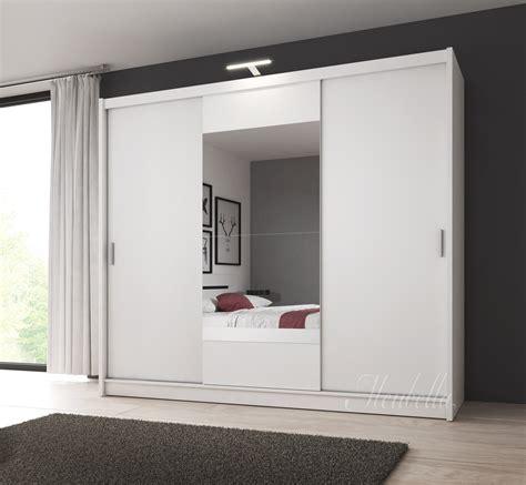 kledingkast 250 breed kledingkast houston wit 250 cm met led verlichting