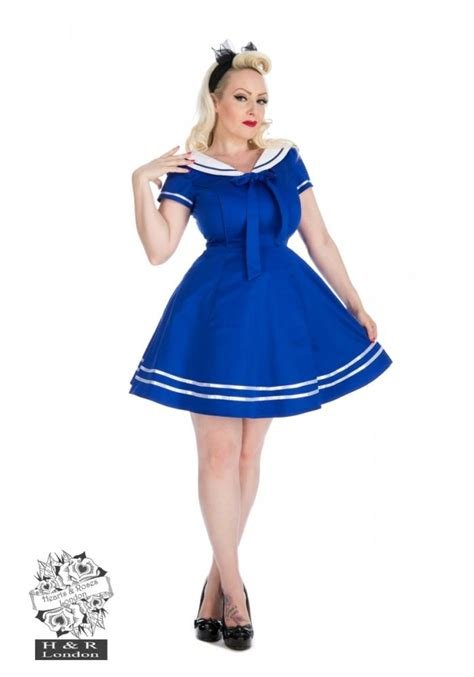 sailor swing dress pin up sailor swing mini dress