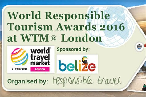 Win A With The Responsible Tourism Awards by Belize Headline Sponsor 2016 World Responsible Tourism