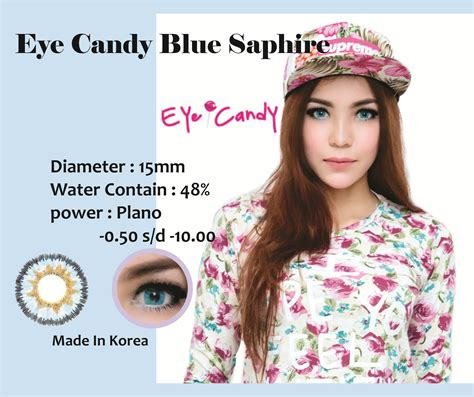 Softlens Eyecandy Bulle Bluegray Soft Lens Eye Murah softlens eye bulle sapphire blue 15mm softlens murahsoftlens murah