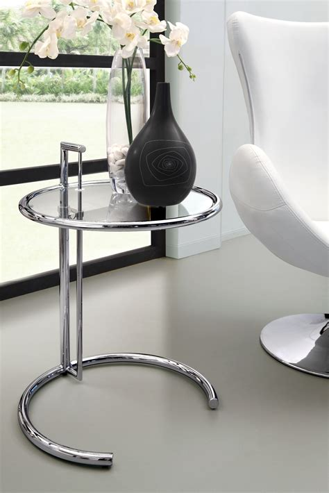 eileen clear glass gray side table from zuo mod 401138