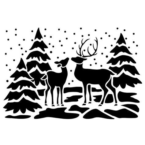 Weihnachtsdeko Fenster Schablonen by Fenster Kunststoff Schablone Din A4 Rehe A Few Things