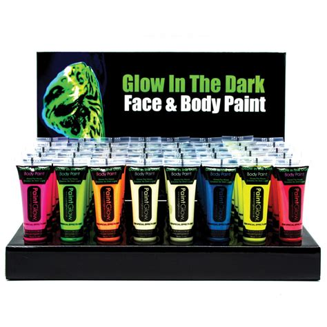 glow in the dark l glow in the dark body face paint rot