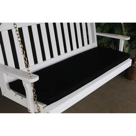 swinging benches 5 foot bench swing glider cushion