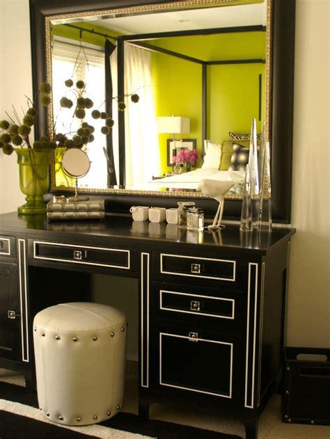 Black Bedroom Vanity by Black Vanity With White Piping Hgtv