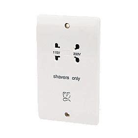 bathroom plug socket mk dual voltage shaver socket 115 230v white switches