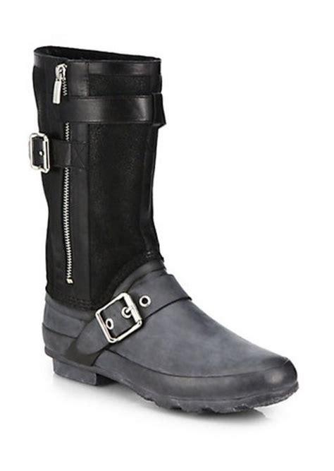 burberry boots sale burberry burberry clardon mid calf rubber moto boots