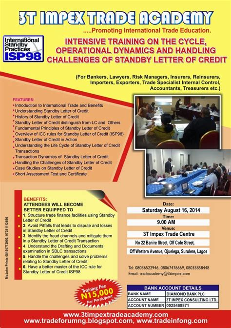 Letter Of Credit Nigeria nigeria trade info portal standby letter of credit