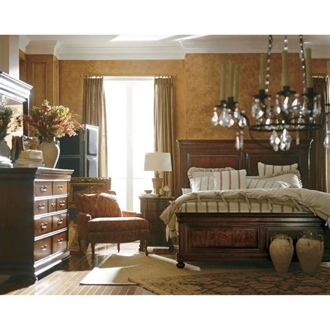 stanley furniture louis philippe panel bed in