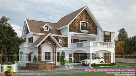 western style villa by devika homes keralahousedesigns