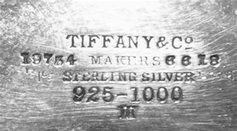tiffany & co inc.: sterling silver marks, hallmarks and