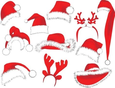 vector christmas hat free vector download 7 521 free