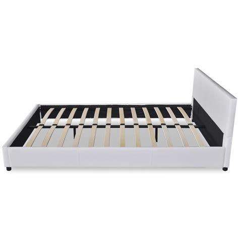 Bed Bigland 200 X 200 kunstleren bed 140 x 200 cm wit kopen vidaxl nl