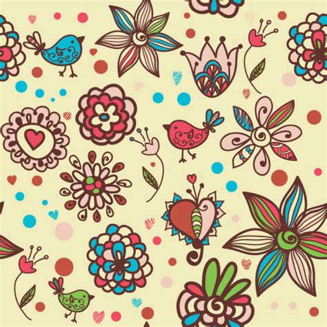 cute cartoon pattern cute cartoon decorative pattern background vector 01