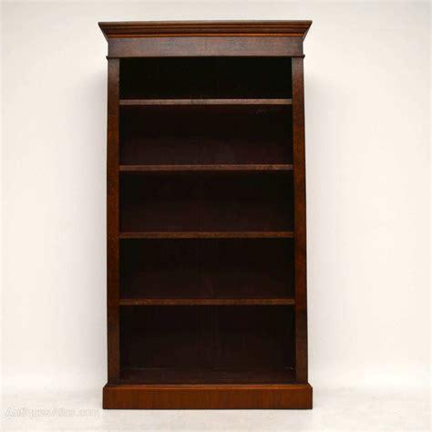 antique victorian burr walnut bookcase antiques atlas