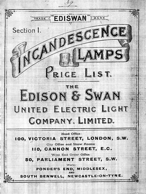 The Light Company Edison And Swan Electric Light Company Wikiwand