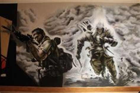 call of duty bedroom decor call of duty style sniper gamer tag cod boys bedroom wall art sticker ps3 xbox 28