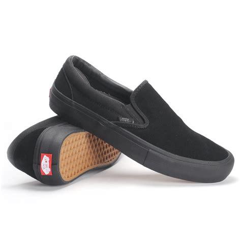 vans slip on pro blackout s skate shoes ebay