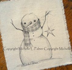 Snowman Drawing Pen 0 1 Black cross hatching santa clause and pen and ink on