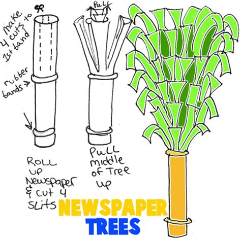 How Do You Make A Paper Tree - newspaper decorating