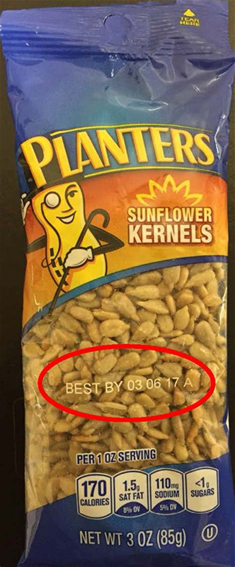 Planters Peanuts Gmo by Expanded Recall Period Of Certain Sunflower Kernel