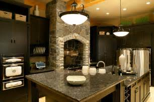 Dark Kitchen Cabinets With Light Granite Countertops by Granite Dark Kitchen Countertop Black Cabinets