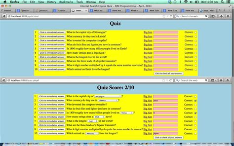tutorial php quiz html javascript and php quiz tutorial robert james
