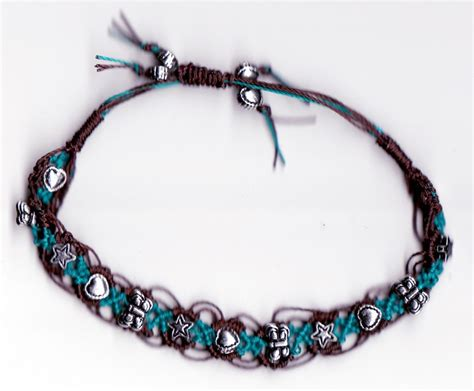 Macrame Bracelets Patterns - macrame bracelet glass