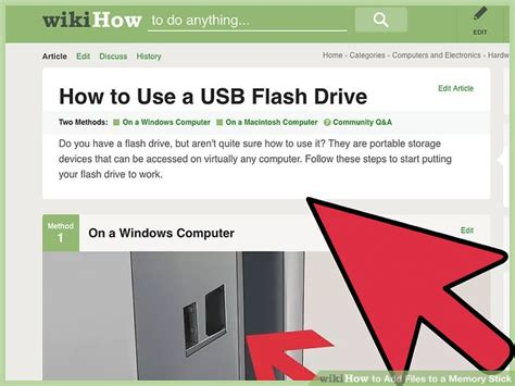 what to use to stick photos on the wall how to add files to a memory stick with pictures wikihow