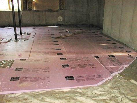 how to install insulating basement floor flooring ideas