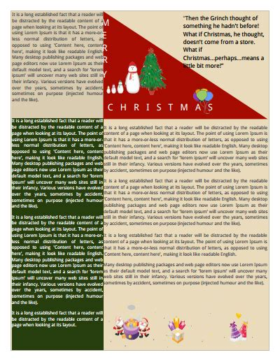 free christmas newsletter templates download best