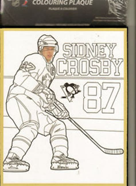 hockey coloring pages of sidney crosby unique item new sidney crosby colouring wooden plaque 8