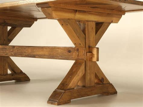 trestle style dining table style parquet trestle dining table for sale at 1stdibs