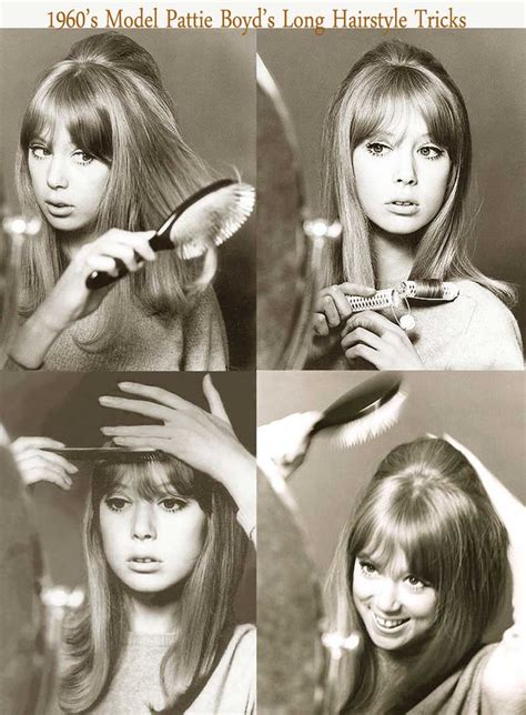 1960s hairstyles for women simple and cool 1960s long hairstyle tips by sixties model pattie boyd