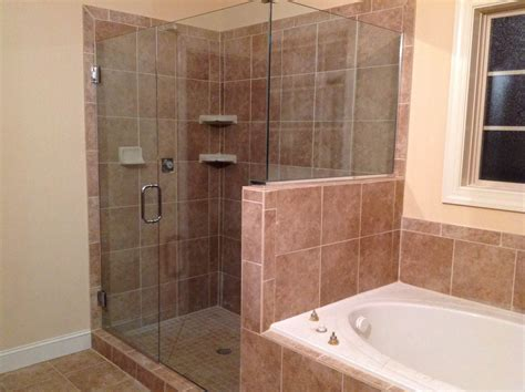 Shower Door U Channel Frameless Shower Door With Notch Panel And Return Wall Using U Channel Featured On Hgtv S