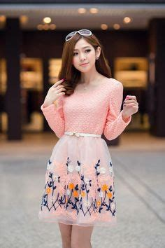 Mini Dress Chiffon Putih Pendek Motif Bunga Biru Elegantmurahgb0756 dress korea on mini dresses houndstooth and models