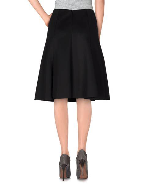 line dot knee length skirt in black lyst