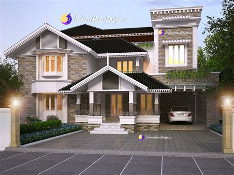 design house model online 3820 sq ft kerala home design based western design villa