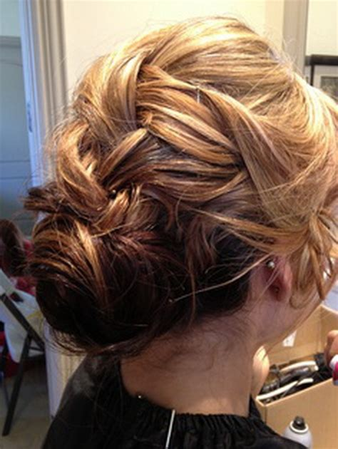 formal hairstyles messy bun with braid french braid prom hairstyles