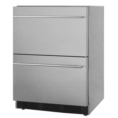 Summit Refrigerator Drawers by Summit Sp6ds2d7 5 5 Cu Ft Undercounter Refrigerator W 1 Section 2 Drawers 115v