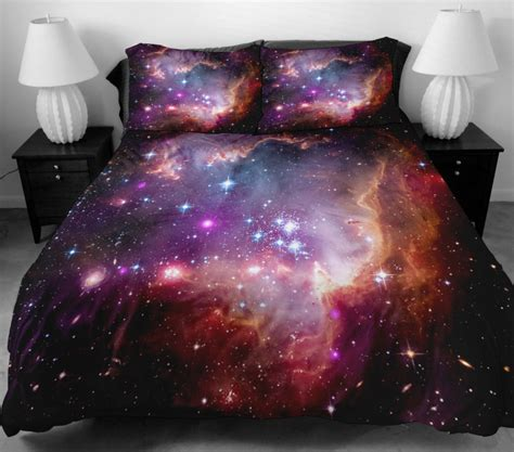 Space Bedding Sets Galaxy Quilt Cover Galaxy Duvet Cover Galaxy Sheets By