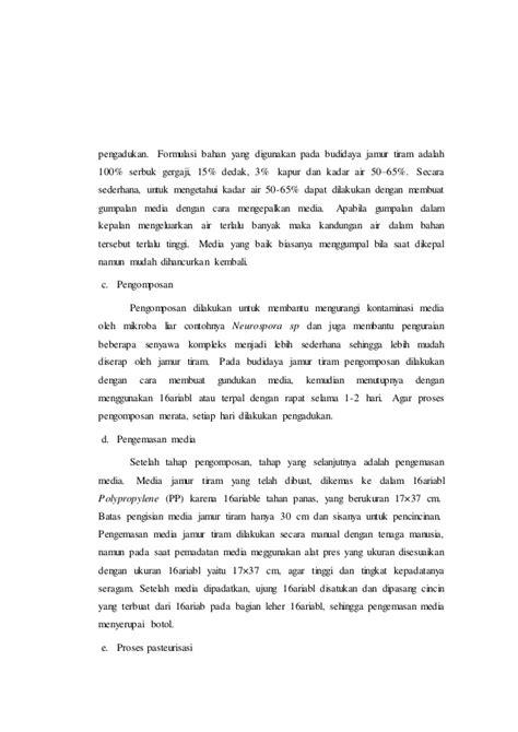 laporan praktikum membuat gas karbon dioksida laporan praktikum budidaya jamur tiram