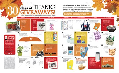 Magazines Sweepstakes And Giveaways - hgtv magazine 30 days of thanks giveaway win a 500 shopping spree sweepstakes