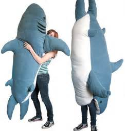 Giant Stuffed Shark Sleeping Bag Chumbuddy Is A Giant Man Eating Plush Ohgizmo