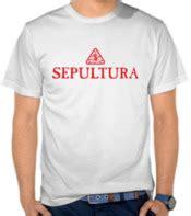 Kaos Pria Band Sepultura jual kaos sepultura logo sepultura satubaju
