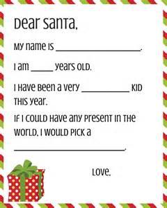 dear santa template kindergarten letter free dear santa printable set