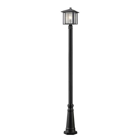 outdoor post lights contemporary aspen black 11 inch one light outdoor post light z lite