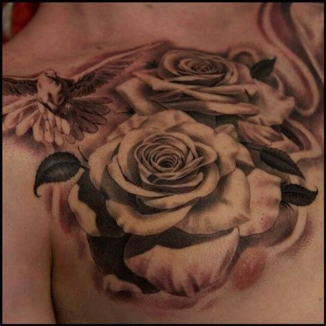 rose chest tattoo top 55 best tattoos for improb