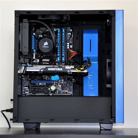 Home Office Gaming Setup Sirin Custom Gaming Pc In Nzxt Source 340 Evatech News